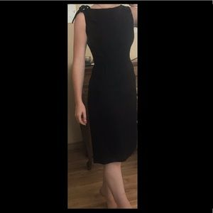 Vintage Leslie Fay Little Black Midi Dress